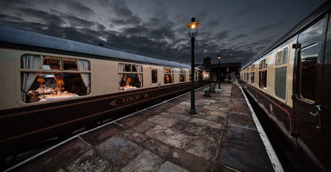Carriages at night